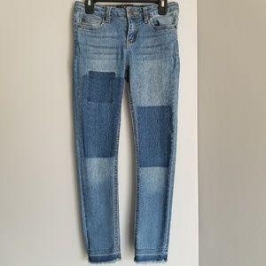 LUCKY  BRAND zoe skinny Jeans patch denim 10
